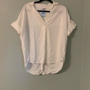 Madewell white blouse tunic small